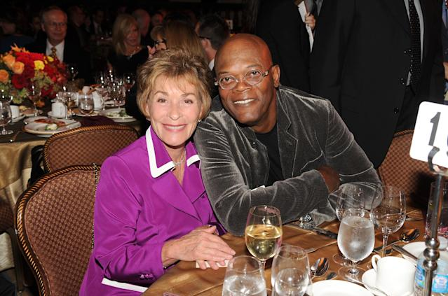 Judge Judy and Samuel L. Jackson at an event in 2012. (Photo: Getty Images)