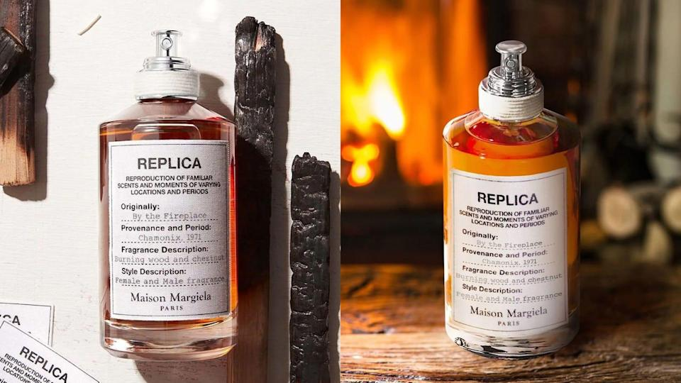 Bring the campfire to you with this Replica By the Fireside perfume from Maison Margiela.