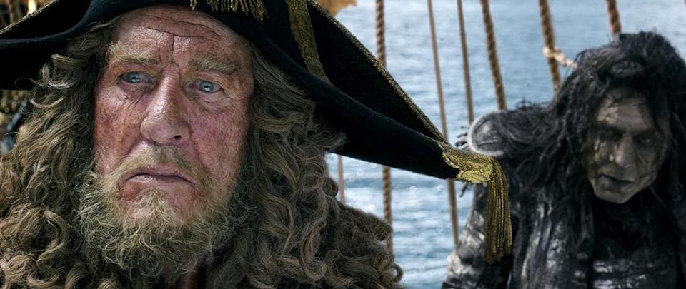 <p>Geoffrey Rush (left) as Captain Hector Barbossa and Javier Bardem (right) as Captain Salazar in 'Pirates of the Caribbean: Dead Men Tell No Tales' (Photo: Disney)<br><br> </p>  <p>Barbossa Nova</p><p> Geoffrey Rush plays Barbossa for the fifth time in 'Pirates of the Caribbean: Dead Men Tell No Tales' (Photo: Disney)<br> </p>  <p>That's the Spirits</p><p> Captain Salazar (Javier Bardem) leads a ghost crew in 'Pirates of the Caribbean: Dead Men Tell No Tales' (Photo: Disney)<br><br> </p>  <p>Depp's Charge</p><p> Johnny Depp reprises his Oscar-nominated role as Captain Jack Sparrow in 'Pirates of the Caribbean: Dead Men Tell No Tales' (Photo: Disney)<br><br> </p>  <p>Bottle Cap'n</p><p> Johnny Depp as Captain Jack Sparrow in 'Pirates of the Caribbean: Dead Men Tell No Tales' (Photo: Disney)<br> </p>  <p>The Way We Were</p><p> Javier Bardem as Captain Salazar in a flashback scene from 'Pirates of the Caribbean: Dead Men Tell No Tales' (Photo: Disney) </p>  <p>The Walking Dread</p><p> The undead Captain Salazar (Javier Bardem) in 'Pirates of the Caribbean: Dead Men Tell No Tales' (Photo: Disney) </p>  <p>Back In Ship Shape</p><p> Javier Bardem as the living Captain Salazar in 'Pirates of the Caribbean: Dead Men Tell No Tales' (Photo: Disney)<br> </p>  <p>Message in a Bottle?</p><p> An image from 'Pirates of the Caribbean: Dead Men Tell No Tales' (Photo: Disney)<br><br><br> </p>  <p>Heat Wave</p><p> A spooky Javier Bardem as Captain Salazar in 'Pirates of the Caribbean: Dead Men Tell No Tales' (Photo: Disney)<br><br> </p>  <p>Sweet Bird of Youth</p><p> Captain Jack Sparrow (Johnny Depp) in a flashback scene, made young with the help of CGI in 'Pirates of the Caribbean: Dead Men Tell No Tales' (Photo: Disney)<br><br><br> </p>  <p>Cool vs. Ghoul</p><p> Geoffrey Rush as Barbossa (left) faces off with Javier Bardem as Captain Salazar in 'Pirates of the Caribbean: Dead Men Tell No Tales' (Photo: Disney)<br><br> </p>  <p>Keep Your Eye on the Sparrow</p><p> Johnny Depp as Ca