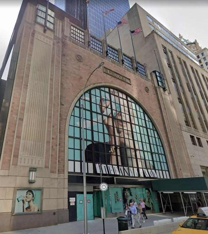 Tiffany's temporary store next to its flagship. The building formerly housed Nike, and will be empty after Tiffany's moves out.  (Google )