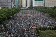 Organisers said around 1.7 million people - a quarter of Hong Kong's population - took part in the August 2019 protest for which nine democracy activists will be sentenced