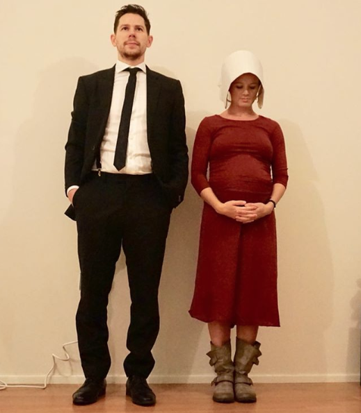 """<p>Praise be—you only need a red maternity dress, boots, and a signature white bonnet to look straight out of Gilead. </p><p><a class=""""link rapid-noclick-resp"""" href=""""https://www.amazon.com/Ann-Arbor-T-shirt-Co-Handmaiden/dp/B075PKPCJD/?tag=syn-yahoo-20&ascsubtag=%5Bartid%7C10050.g.4972%5Bsrc%7Cyahoo-us"""" rel=""""nofollow noopener"""" target=""""_blank"""" data-ylk=""""slk:SHOP WHITE BONNETS"""">SHOP WHITE BONNETS</a></p>"""