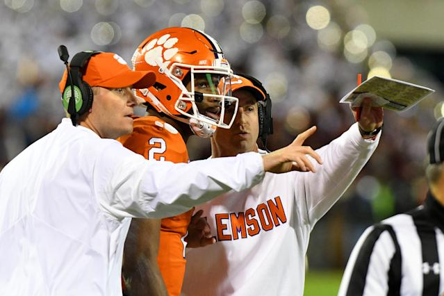 Kelly Bryant won't start against Syracuse on Saturday. Trevor Lawrence will be the team's QB. (Getty)
