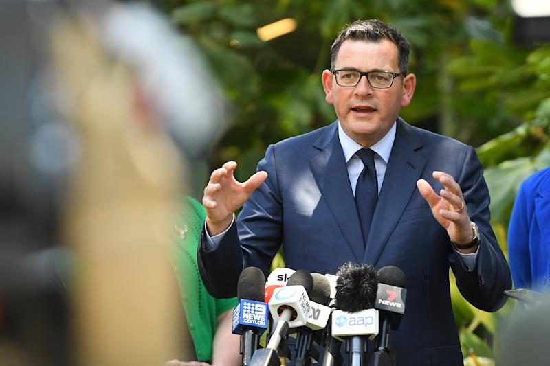 Victorian Premier Daniel Andrews speaks to media during a press conference at Parliament House in Melbourne, Thursday, November 28, 2019. Source: AAP