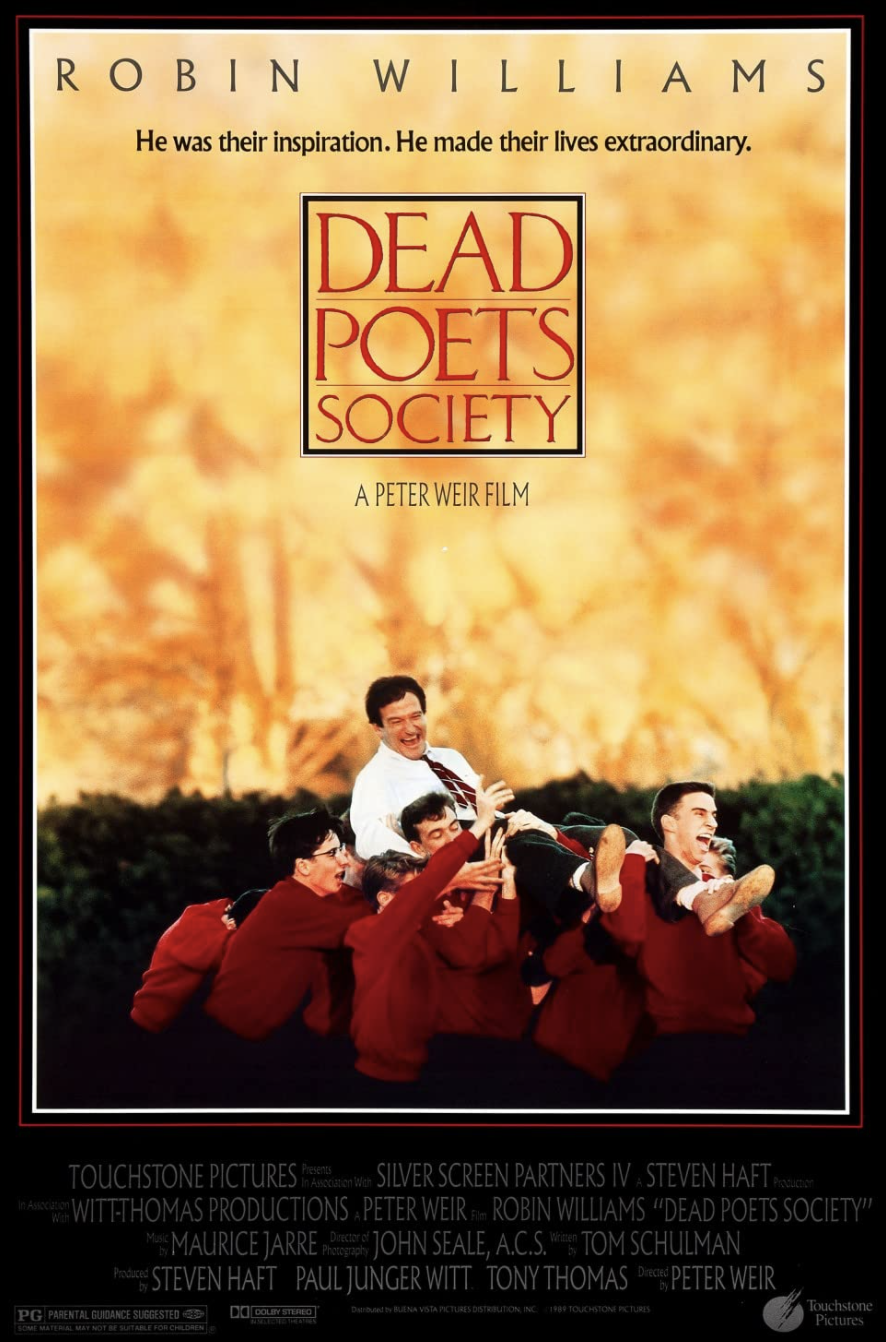 """<p><a class=""""link rapid-noclick-resp"""" href=""""https://www.amazon.com/Dead-Poets-Society-Robin-Williams/dp/B00AOB3XHC/?tag=syn-yahoo-20&ascsubtag=%5Bartid%7C10070.g.37644376%5Bsrc%7Cyahoo-us"""" rel=""""nofollow noopener"""" target=""""_blank"""" data-ylk=""""slk:STREAM NOW"""">STREAM NOW</a></p><p>Something about school will just always scream autumn, so this film about a hardworking poetry teacher (played by the immeasurable Robin Williams) is great to pop on during fall..</p>"""