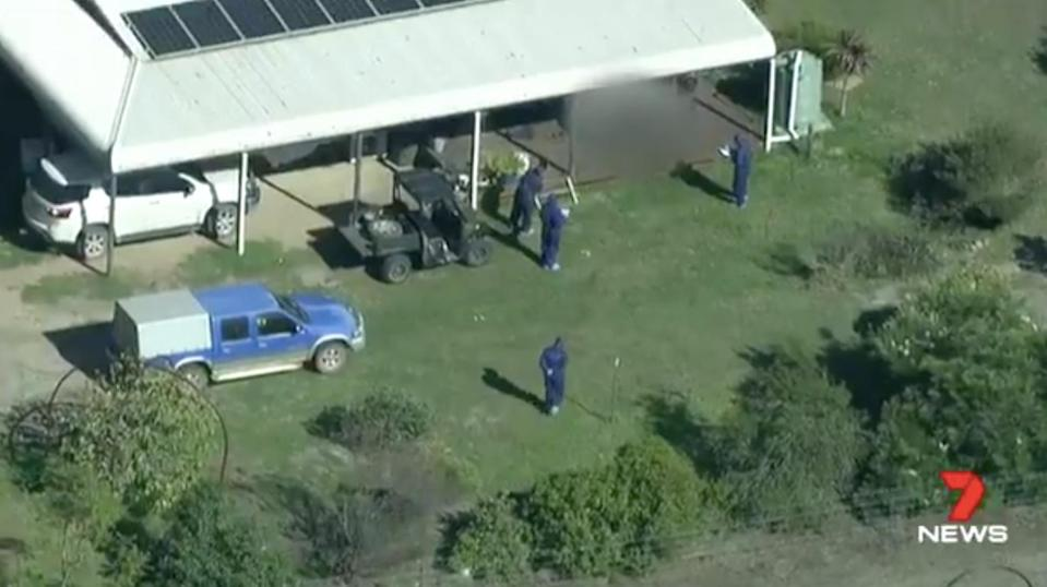 The bodies were found just before dawn on Friday morning at a property in Osmington, WA. Source: 7 News