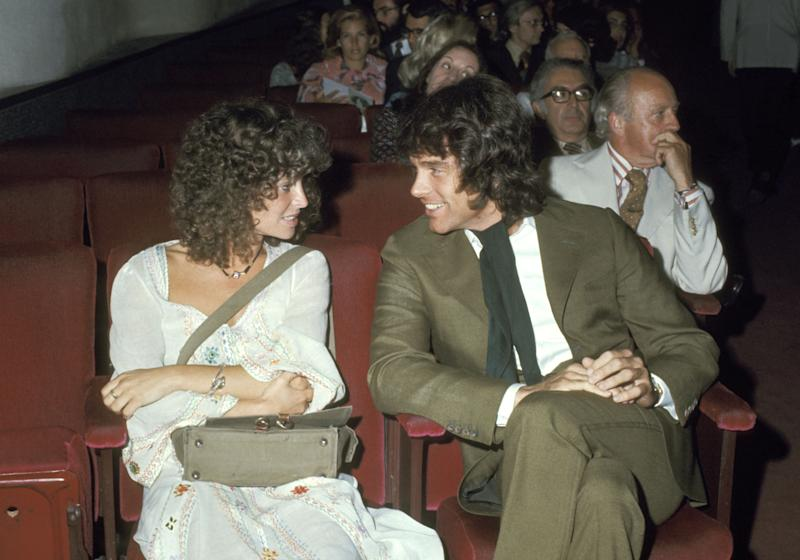 """Warren Beatty and Julie Christie during """"Go-Between"""" Premiere at Museum of Modern Art in New York City, New York, United States. (Photo by Ron Galella/Ron Galella Collection via Getty Images)"""