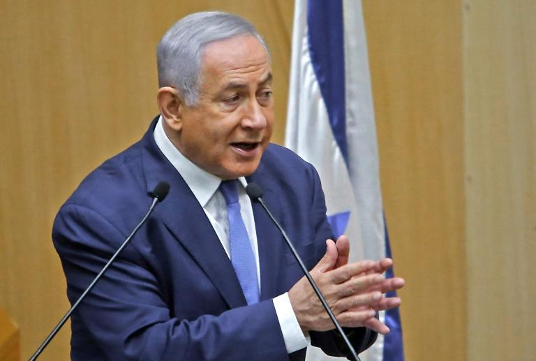 Israeli Prime Minister Benjamin Netanyahu is fighting his second election in five months with a potential corruption indictment looming (AFP Photo/Gil COHEN-MAGEN)