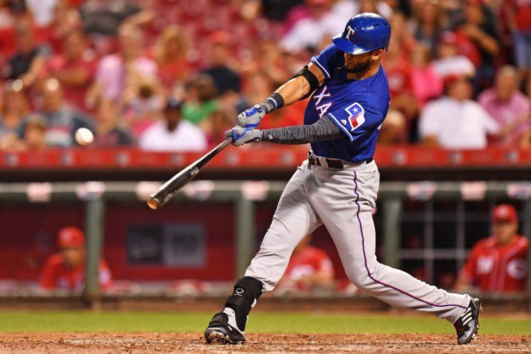 Nomar Mazara will look for more in 2017. (Getty Images/Jamie Sabau)