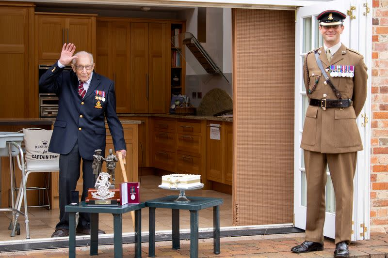 Flypasts and promotion for UK fund-raising hero 'Colonel' Tom as he turns 100