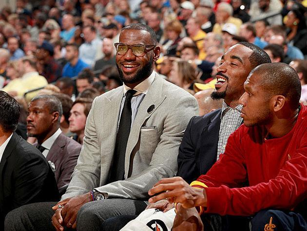 LeBron James, not in uniform. (Getty Images)