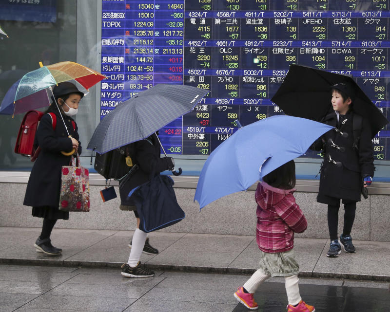 Asia stocks down amid Lunar New Year holidays