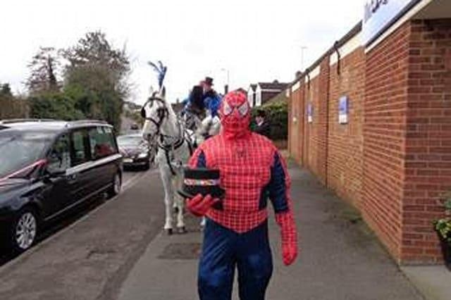 The Spiderman funeral