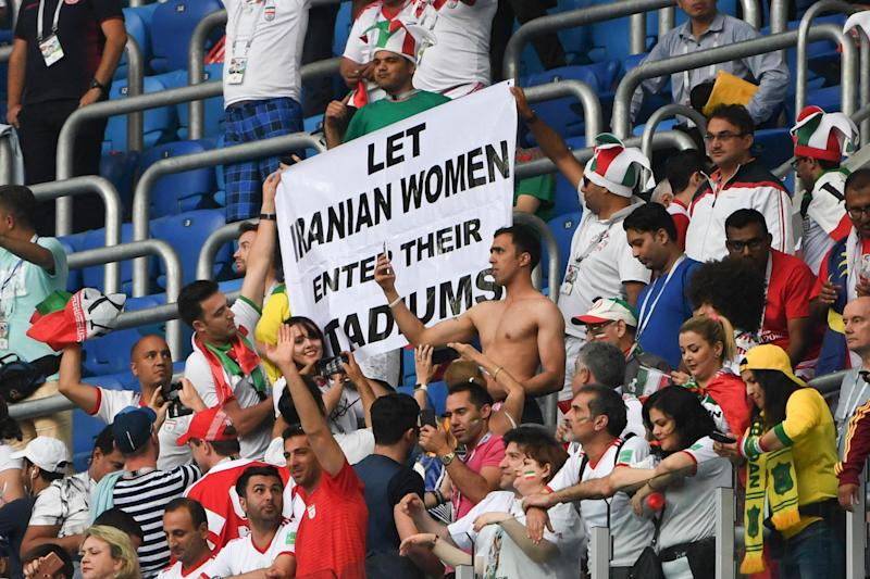 Iranian football fans have been campaigning for years to put an end to the ban on females entering stadiums: Paul Ellis/AFP/Getty Images