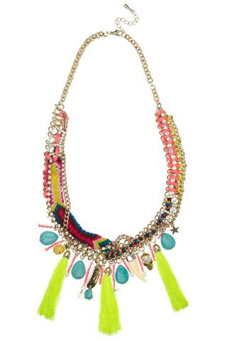 Festival Friendship Chain Necklace by River Island