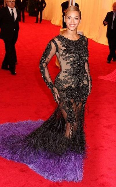 <p><b>Beyoncé Knowles</b></p> <p>Ever the peacock, never the wallflower. Beyoncé Knowles, who is to release an intimate tell-all documentary about her life come February, dazzled in Givenchy Couture at the MET Gala. The electric violet-feathered train was enough to turn heads, let alone the remainder of the intricately designed and revealing bodice.</p>