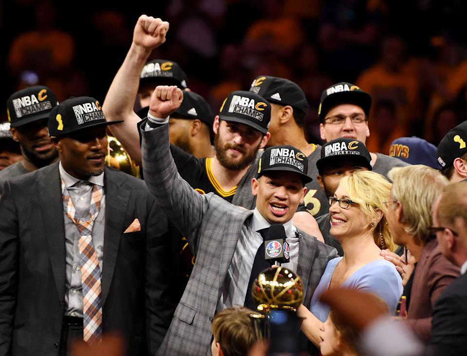 As coach in Cleveland, Tyronn Lue helped lead the Cavaliers back from a 3-1 series deficit to win the 2016 NBA championship.