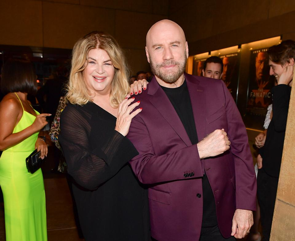 HOLLYWOOD, CALIFORNIA - AUGUST 22: Kirstie Alley and John Travolta attend the premiere of Quiver Distribution's