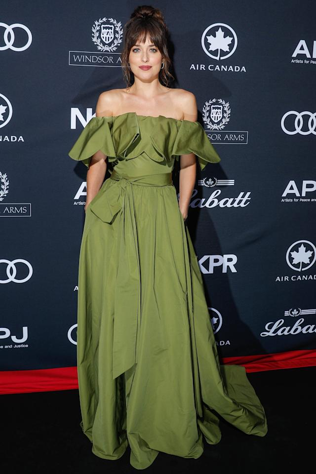 Dakota Johnson Is Fifty Shades of Green in Toronto, Plus