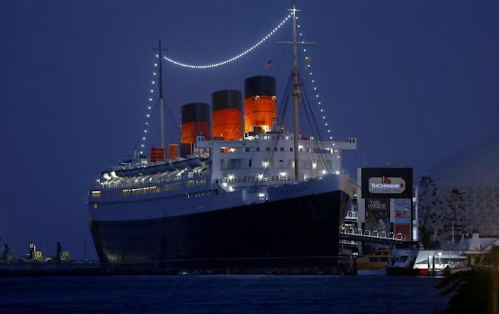"""LONG BEACH, CALIF. - SEPT. 25, 2019. Four years after a marine survey warned that the Queen Mary's state of decay was """"approaching the point of no return,"""" new inspection reports revealed some areas of the ship are still suffering from deterioration. In a June report, an inspector wrote that his findings caused him to have """"significant doubt about the maintenance and safety upkeep of the property."""" (Luis Sinco/Los Angeles Times)"""