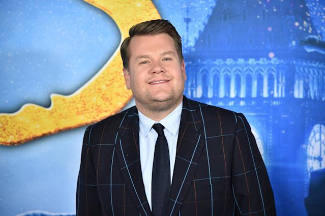 "James Corden attends the ""Cats"" World Premiere at Alice Tully Hall, Lincoln Center on December 16, 2019 in New York City. (Photo by Theo Wargo/WireImage)"