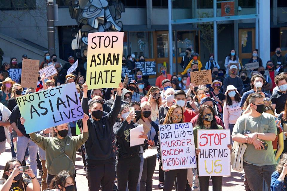 "<span class=""caption"">The recent rise in anti-Asian racism, subsequent protests and increased activism has sounded alarm bells.</span> <span class=""attribution""><span class=""source"">(Shutterstock)</span></span>"