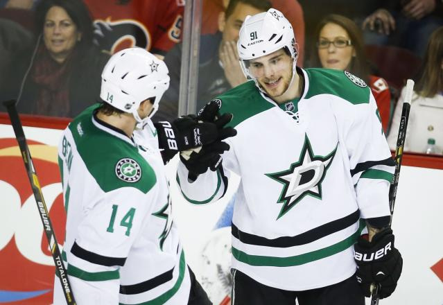 Tyler Seguin and Jamie Benn have combined for fewer goals than Alex Ovechkin this season. (Jeff McIntosh/CP)