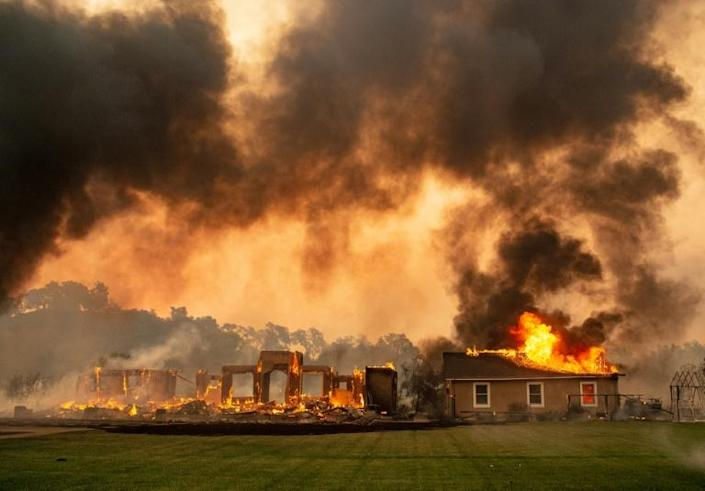 Wildfires -- made stronger and more frequent by climate change -- have struck communities across the world in 2019 (AFP Photo/Josh Edelson)