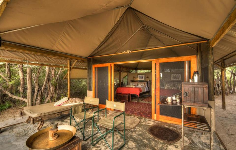 <p>In late August, Prince Harry took Meghan away to the Meno a Kwena safari lodge in Botswana for a three-week romantic stay. The royal has visited the camp several times over the years.<br><i>[Photo: Meno a Kwena]</i> </p>