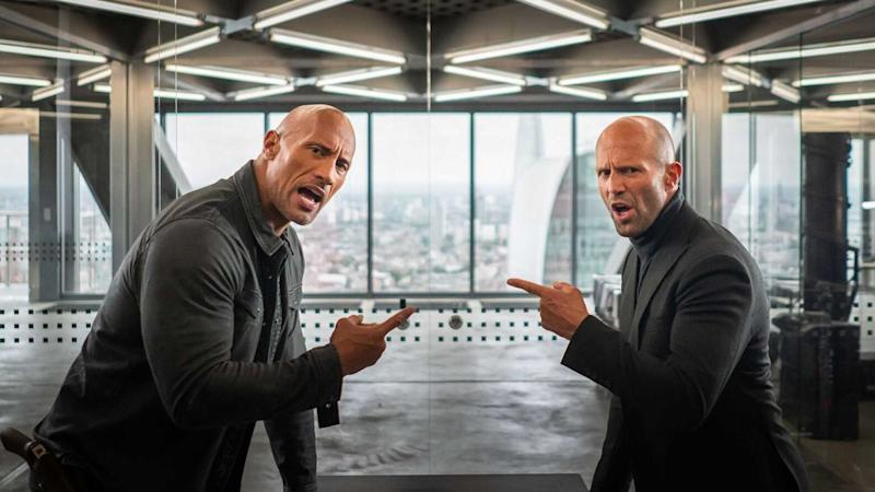 Dayne Johnson and Statham team up in Hobbs & Shaw (Credit: Universal)