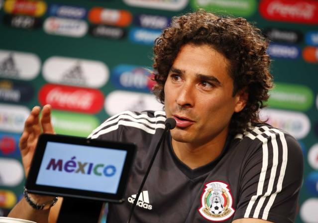 Soccer Football - World Cup - Mexico News Conference - Novogorsk, Moscow Region, Russia - June 24, 2018. Guillermo Ochoa attends a news conference. REUTERS/Axel Schmidt