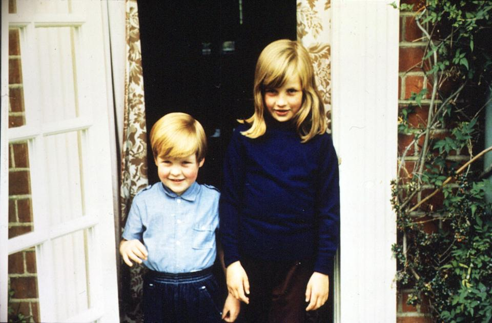 Undated family file picture of Lady Diana Spencer (Diana Princess of Wales) with her Brother Charles, Lord Alhorp (Earl Spencer) in 1968.   (Photo by PA Images via Getty Images)