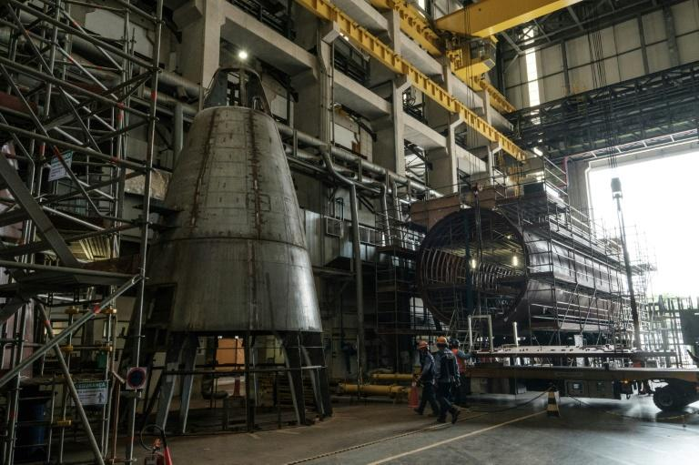 The first Brazilian conventional submarines to be made under the national submarine development program (Prosub) at the naval submarine shipyard (ICN) in Itaguai, some 70km south of Rio de Janeiro on April 7, 2017