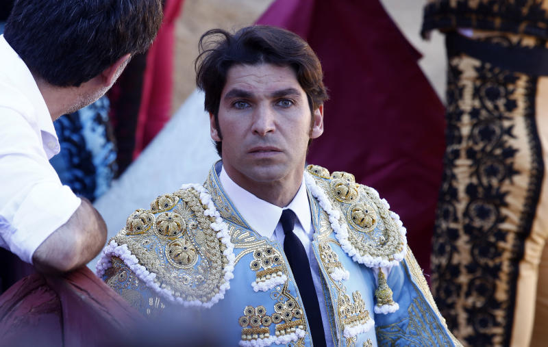 GUADALAJARA, SPAIN - APRIL 27: Cayetano Rivera during bullfights in Brihuega on April 27, 2019 in Guadalajara, Spain. (Photo by Europa Press Entertainment/Europa Press via Getty Images)