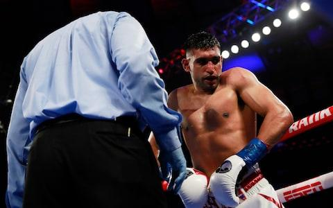 <span>Khan was beaten by Terence Crawford in April after being hit by a low blow</span> <span>Credit: Action Images </span>