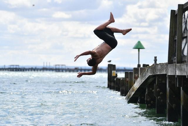 Taking the plunge at Southend