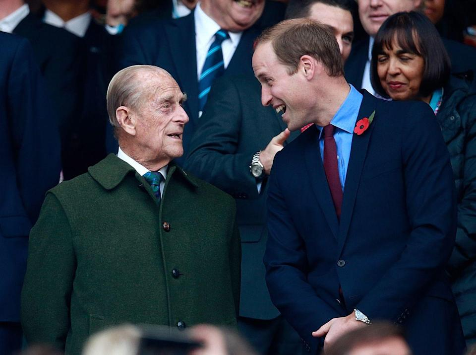 <p>And he cracked one with Prince William on the same occasion too. </p>