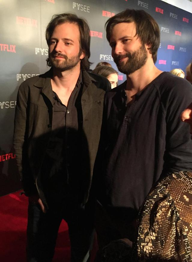 """<p>Earlier this year, Ross and Matt Duffer gave Yahoo TV <a href=""""https://www.yahoo.com/tv/golden-globes-duffer-brothers-tease-stranger-things-season-2-020730333.html"""" data-ylk=""""slk:a few teases about Season 2"""" class=""""link rapid-noclick-resp"""">a few teases about Season 2</a>: """"We've got this doorway to another dimension that's still open,"""" says Ross. And Will's long stay in the Upside Down will likely have """"some adverse effects,"""" he added.<br><br>(Photo: Giana Mucci/Yahoo) </p>"""