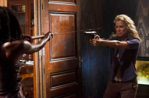 "<em>One-and-a-half chomps</em> The show made an enormous mistake by continually showing the audience how evil the Governor was and not having the formerly savvy Andrea catch on to <em>any</em> of that. It's certainly not actress Laurie Holden's fault that ""The Walking Dead"" turned her tough, level-headed character into such an oblivious chump, but it's a problem for the show's future. Job 1 from here on out is undoing the damage done by the boring, passive, clueless Andrea we saw in the first half of the season."
