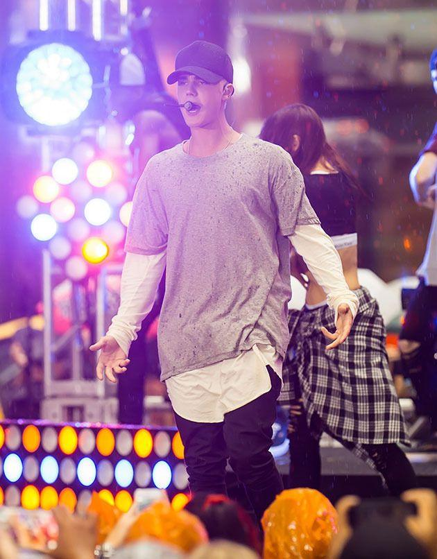 Justin Bieber performed a bevy of hits on the <i>Today</i> show. Photo: Getty Images