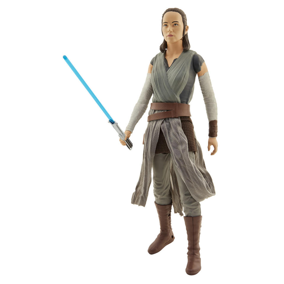 """<p>""""At long last, Rey has found Luke Skywalker, the last Jedi Master in the galaxy. Hoping to find a hero of legend, she must unlearn what she has learned as Skywalker challenges her expectations."""" $19.99 (Photo: Jakks Pacific) </p>"""