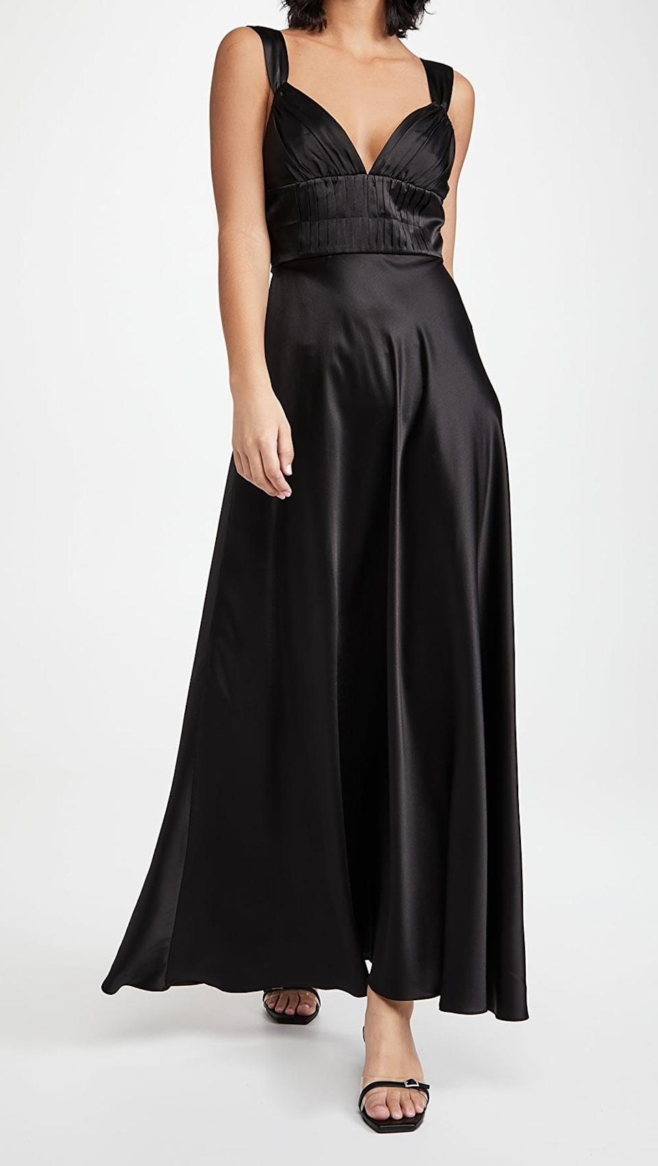 <p>This <span>Dannijo Silk Dress</span> ($475) is an elegant choice for a fancy date.</p>