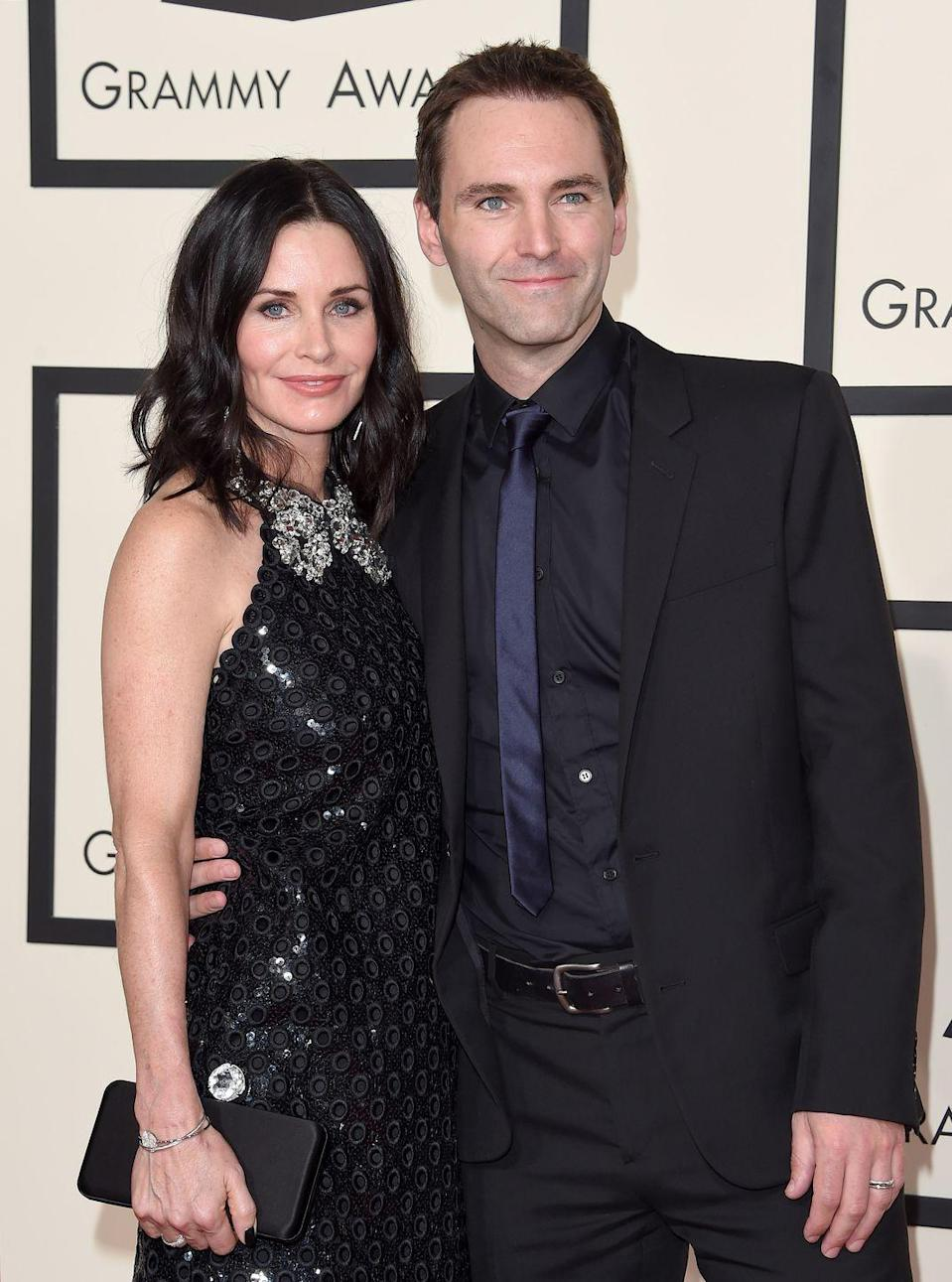 "<p>These two were set up by Grammy-winning artist Ed Sheeran of all people. ""My housemate [Snow Patrol's Johnny McDaid] who I've lived with for a year, I introduced him to Courteney Cox. They started dating and [are] crazy about each other,"" Sheeran told <a href=""http://uk.omg.yahoo.com/gossip/the-bike-shed/ed-sheeran-admits-passed-out-drunk-jennifer-anistons-house-flatmate-snow-patrol-johnny-mcdaid-courteney-cox-exclusive-164856545.html?"" data-ylk=""slk:Yahoo;outcm:mb_qualified_link;_E:mb_qualified_link;ct:story;"" class=""link rapid-noclick-resp yahoo-link"">Yahoo</a>.</p><p>The pair got engaged in 2014. Despite splitting briefly, they are back on and it's rumored <a href=""https://metro.co.uk/2018/06/03/jennifer-aniston-will-courteney-coxs-maid-honour-wedding-snow-patrols-johnny-mcdaid-7600791/"" rel=""nofollow noopener"" target=""_blank"" data-ylk=""slk:Jennifer Aniston will be maid of honor"" class=""link rapid-noclick-resp"">Jennifer Aniston will be maid of honor</a> at the wedding. We love a happy ending!<br></p>"