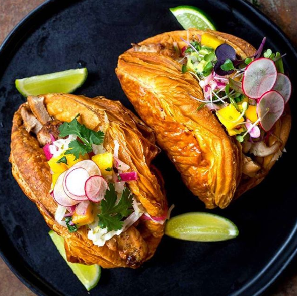 A buttery taco filled with Mexican deliciousness is our idea of heaven. Photo: Instagram/tastingtable