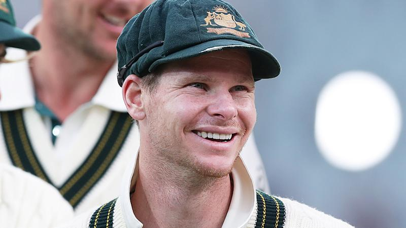 Steve Smith has dismissed an accusation from former Test captain Ian Chappell that he has been 'white-anting' Tim Paine. (Photo by Mark Metcalfe - CA/Cricket Australia via Getty Images)