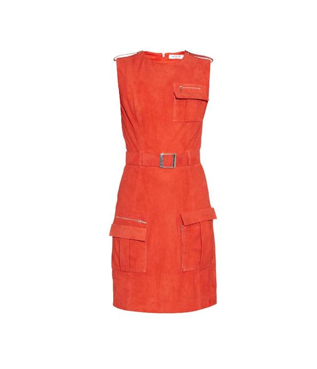 "<p>Front Pocket Belted Suede Dress, $2,169 (on sale $650), <a href=""https://www.matchesfashion.com/products/Mugler-Front-pocket-belted-suede-dress-1048795"" rel=""nofollow noopener"" target=""_blank"" data-ylk=""slk:matchesfashion.com"" class=""link rapid-noclick-resp"">matchesfashion.com</a> </p>"