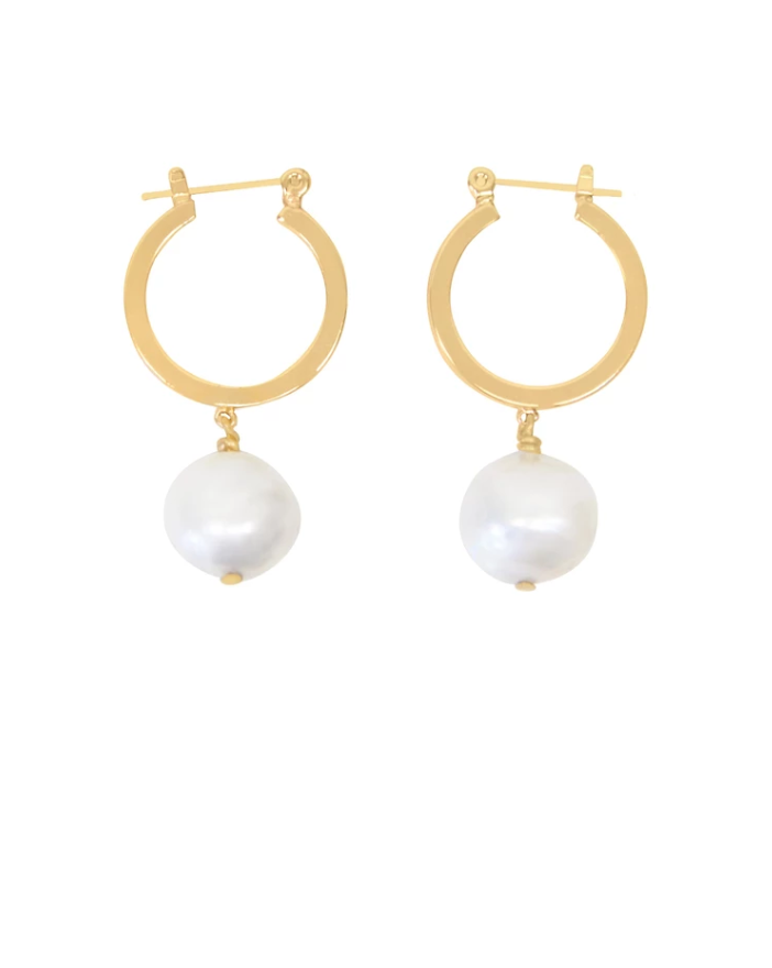 """<p><strong>PURPOSE</strong></p><p>purposejewelry.org</p><p><strong>$57.00</strong></p><p><a href=""""https://www.purposejewelry.org/collections/earrings/products/baroque-hoops"""" rel=""""nofollow noopener"""" target=""""_blank"""" data-ylk=""""slk:Shop now"""" class=""""link rapid-noclick-resp"""">Shop now</a></p><p>These simple-yet-sophisticated hoops are handmade, and 100 percent of the proceeds from their sale go to <a href=""""http://www.isanctuary.org/"""" rel=""""nofollow noopener"""" target=""""_blank"""" data-ylk=""""slk:International Sanctuary"""" class=""""link rapid-noclick-resp"""">International Sanctuary</a>, an organization that helps girls and young women escape human trafficking.</p>"""
