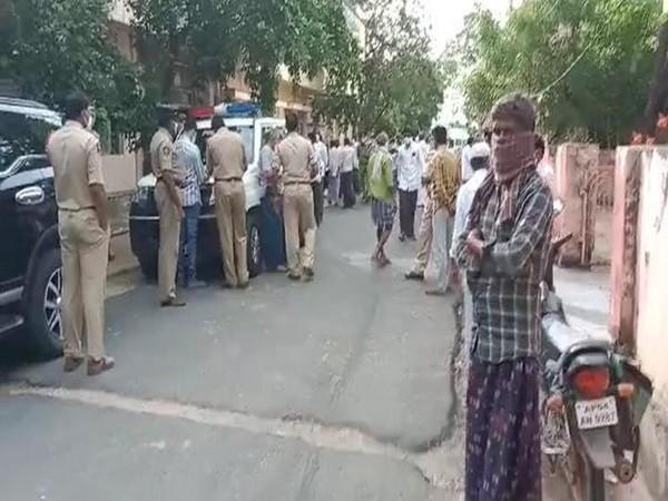Police taking bodies to Pulivendula government general hospital for postmortem. (Photo/ANI)