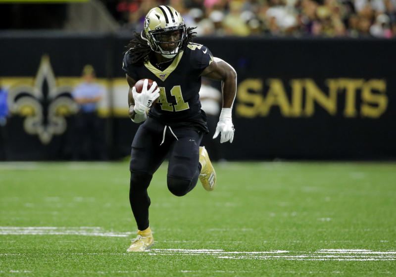 New Orleans Saints running back Alvin Kamara (41)