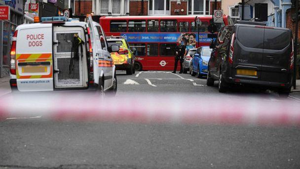 PHOTO: Police at the scene after an incident in Streatham, London, Feb. 2, 2020. (Victoria Jones/PA via AP)